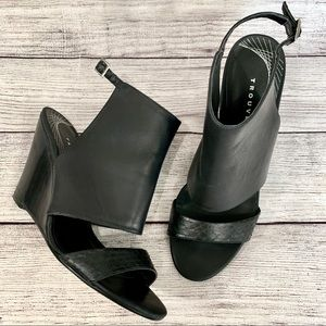 Trouve Leather Wedge  Sandals